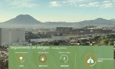 Alerta Weather Channel por alto polen y mala calidad de aire en Chihuahua