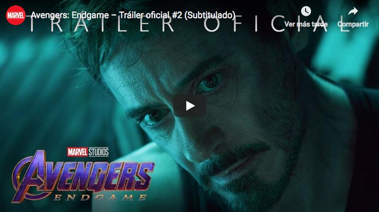 Revelan el segundo tráiler de Avengers: Endgame