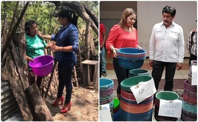 En Chiapas alcaldes regalan cubetas de 15 pesos por Día de las Madres