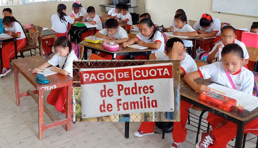 """""""Sí se acaban las cuotas de padres de familia en las escuelas"""": AMLO"""