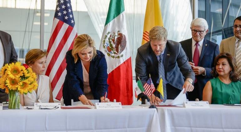 La alcaldesa Maru Campos firma acuerdo entre Chihuahua y Albuquerque