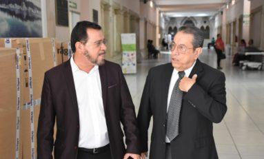Supervisan diputado y secretario instalaciones del Hospital Central Universitario