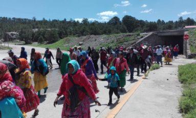 """Crece contingente de la """"Marcha por Trabajo"""" de los tarahumaras"""