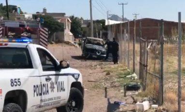 Encuentran quemada camioneta que fue robada en Cerro de la Cruz