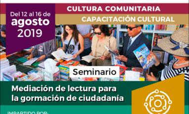 """Invita Municipio a seminario """"Mediación de lectura para la formación de ciudadanía"""""""