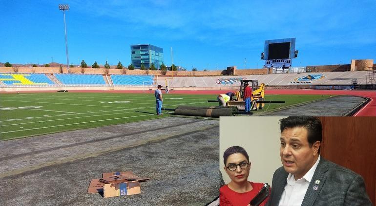 Mejora UACH estadio con pasto nuevo apto para americano y soccer: Rector