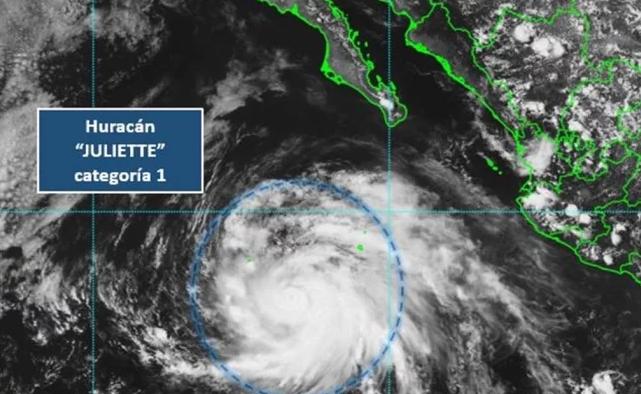 Ciclón Juliette se convirte en huracán categoría Uno; traerá tormentas al país