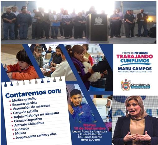 Presenta Maru Campos informe de gobierno en Punta Oriente