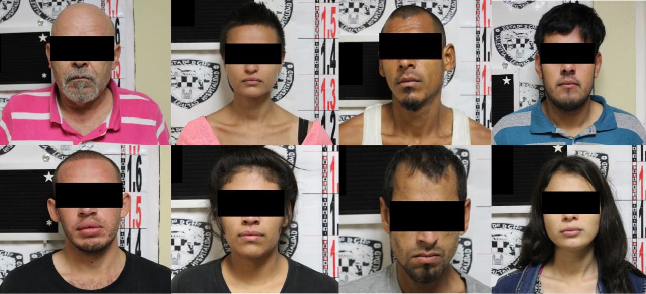 Detiene Fiscalía a ocho narcomenudistas