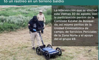 Rastrean predio en busca de mujeres desaparecidas en Juárez