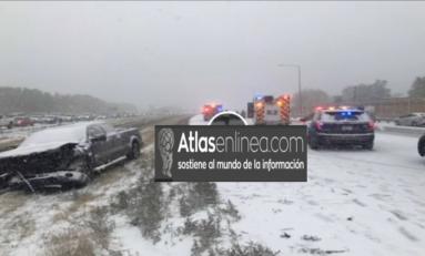 Primera nevada de la temporada en Denver: registran 96 accidentes