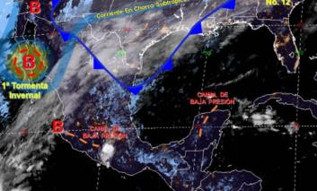Continúa intenso frente frío No. 12 y su masa de aire polar asociada: SMN