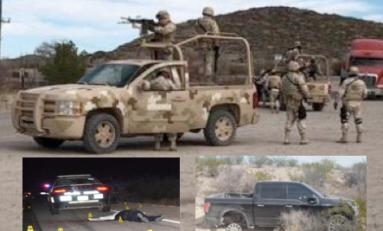 Guardia Nacional y AEI sitian Ojinaga en buscan de sicarios que mataron a federales