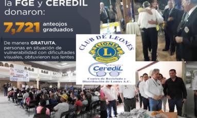 En 2019, FGE y CEREDIL donaron más de 7 mil anteojos graduados