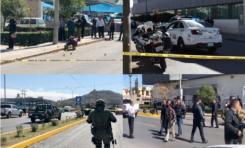 Son Policías Estatales los agredidos a balazos frente a la Delegación de Vialidad