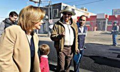 Supervisa Maru Campos obras de recarpeteo en la colonia Obrera