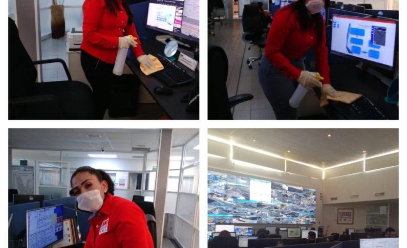 Mantiene FGE higiene preventivo en Emergencias 911